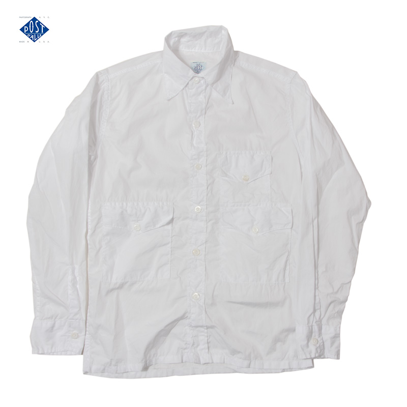 POST O'ALLS [ポストオーバーオールズ] - Town & Country L/S Shirt _ White