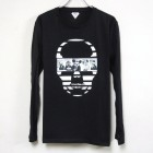 Skull Secret animal Long T-shirt Black
