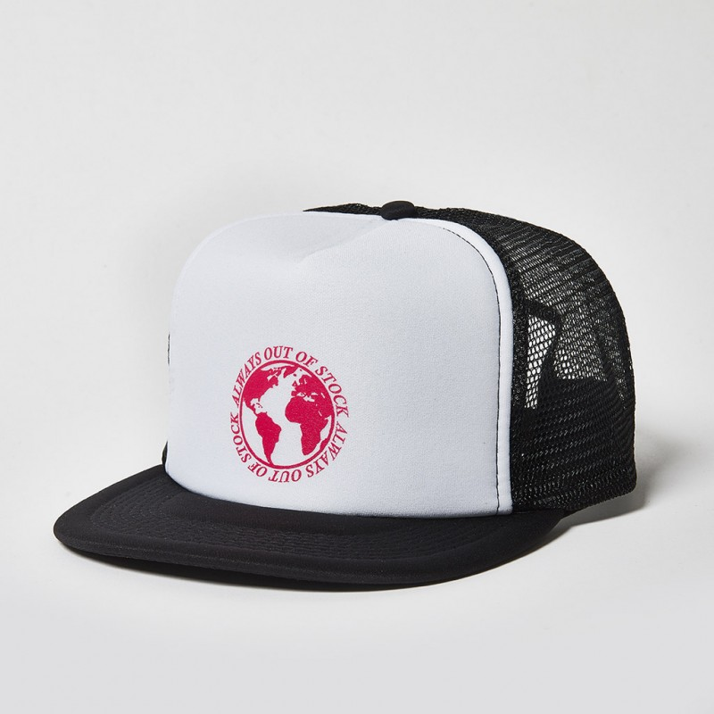 GLOBAL MESH CAP WHITE/PINK